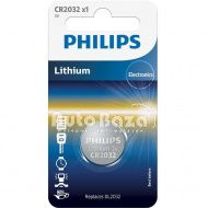 Фото Батарейка CR2032 - 3.0V coin 1-blister (20.0 x 3.2) - Lithium (пр-во Philips)